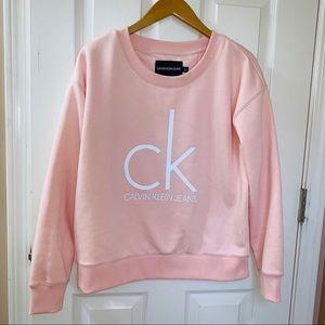 Light Pink CK Logo Crewneck Sweatshirt